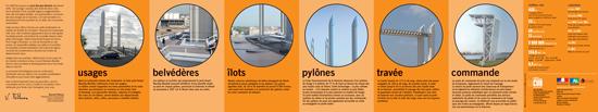 Dépliant détaillant les éléments du Pont Chaban Delmas