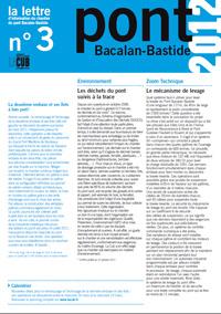 Lettre d'information du Pont n°3 - 1er trimestre 2011 - Document Pdf 300Ko